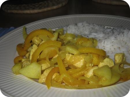 Rijst met Kip en Appel