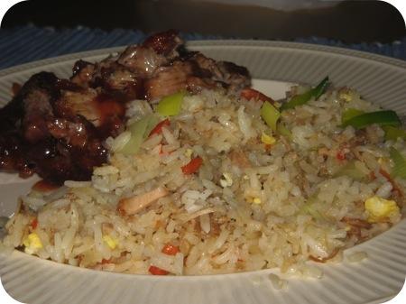 nasi babi pangang