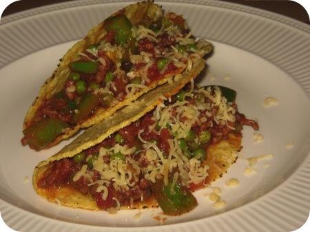 Taco's met Gehakt en Doperwten
