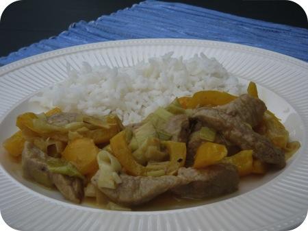 Rijst met Gewokte Schnitzel