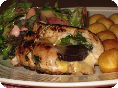 Gevulde Schnitzel met Aubergine