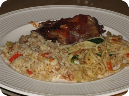 bami nasi babi pangang