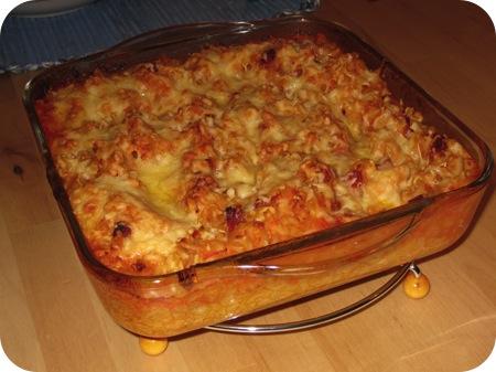 Macaroni met Chorizo en Verse Tomatensaus