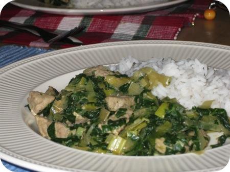 Rijst met Paksoi en Schnitzel