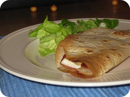 Quesadilla's met rauwe Ham en Brie
