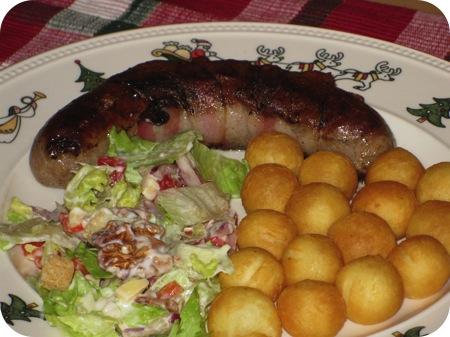 Recept: Braadworst met Spek en Salie