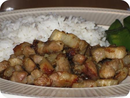 Rijst met Zoet Varkensvlees