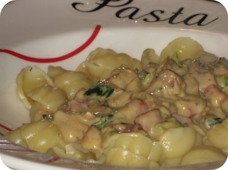 Pasta met Champignons en Kaassaus