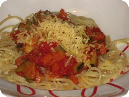 Spaghetti met Wortel & Courgette