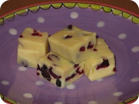 Witte Chocolade Fudge met Gedroogd Fruit