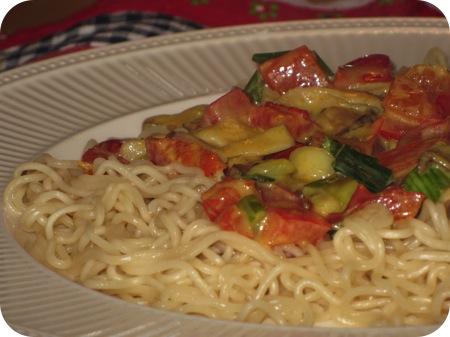 Groentencurry met Noodles