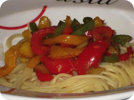 Spaghetti Peperonata