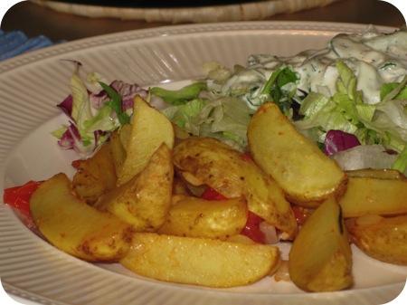 Aardappelschotel met Cherrytomaten