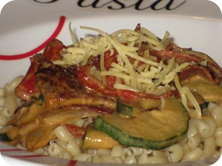 Macaroni met Courgette en Chorizo