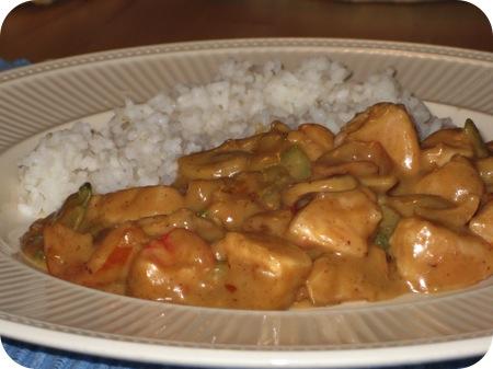 Rijst met Kipfilet, Paprika en Bosui