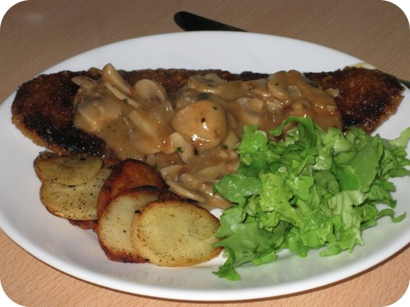 hacksteak crispy met rahm champignons
