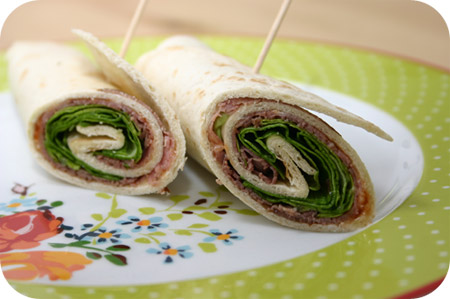 Wraps met Rosbief en Country Relish