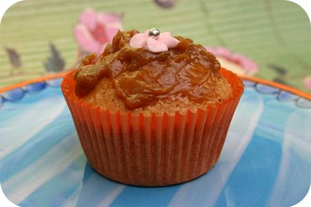 Cupcakes met Caramelpasta