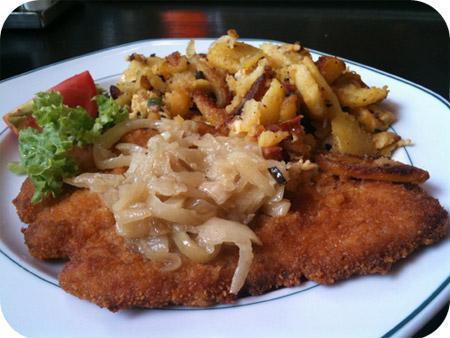 Dinea - Trier zwiebel schnitzel