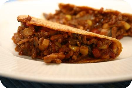 Taco's met Gehakt en Champignons