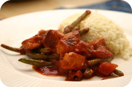 Couscous met Kip en Sperziebonen