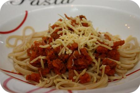 Spaghetti met Gehakt en Tomatensaus