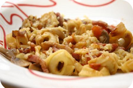 Tortellini met Champignons en Spek