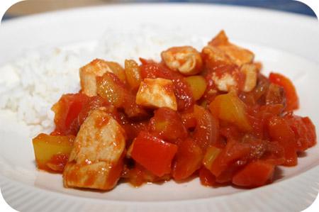 Rijst met Kipfilet, Chorizo en Paprika