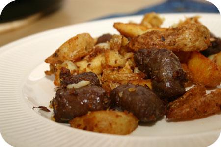 Aardappelschotel met Runderworstjes