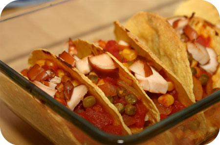 Taco's met Gerookte Kip