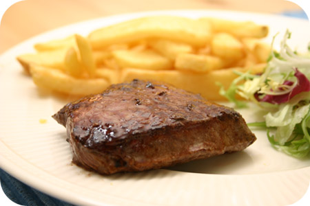 Biefstuk met Vlaamse Frieten