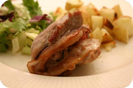 Aardappeltjes uit de Oven en Gevulde Schnitzel