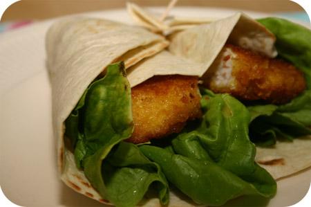 Wraps met Krokante Kipschnitzels