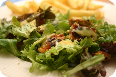 Salade met Krokante Kip Schnitzels