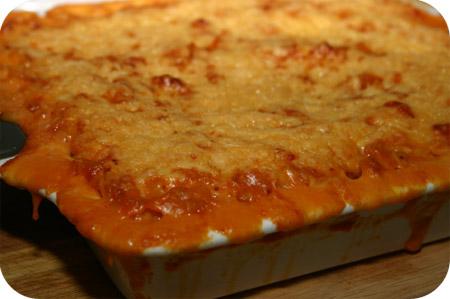 Macaroni Ovenschotel met Spek, Tomaat en Kaas