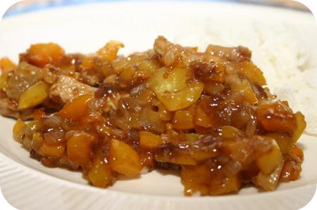 Rijst met Paprika's en Schnitzel in Zoete Saus