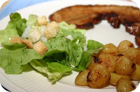 Speklapjes met Honing-Mosterd Aardappeltjes
