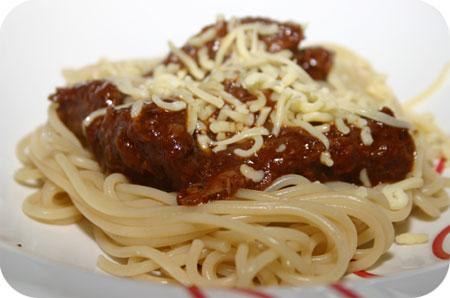 Spaghetti met Italiaans Stoofvlees