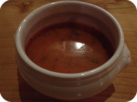Chalet Gruyere tomatensoep met snijbiet