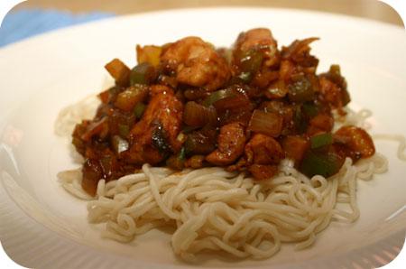 Noodles met Kipfilet en Paprika