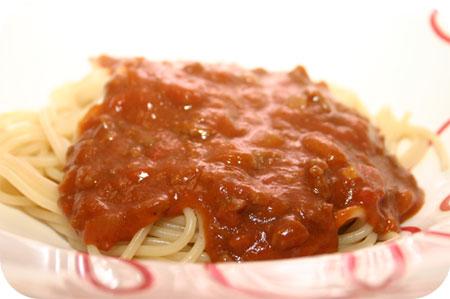 Spaghetti met Pepernotensaus