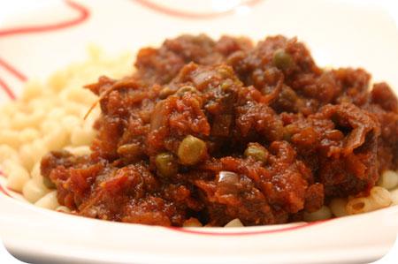 Macaroni Indisch Hachee