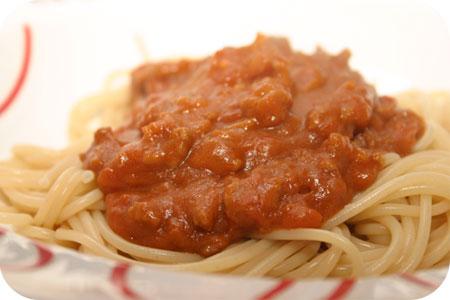 Spaghetti met Tomatensaus en Speculaasjes