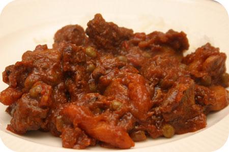 Stoofvlees op Indische Wijze