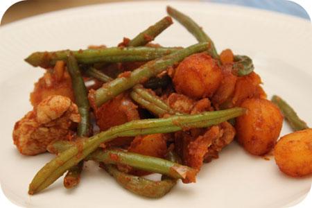 Aardappelschotel met Kipfilet en Sperziebonen