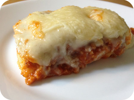 Lasagne van de Aldi