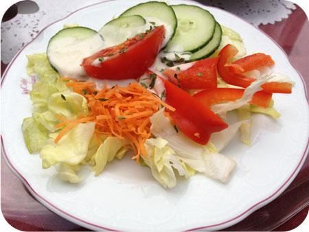 Café Kaulard in Monschau kleine salade