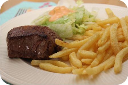 Biefstuk met Frietjes