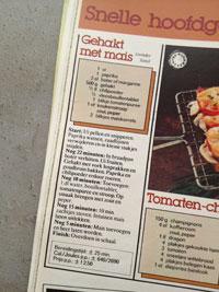 recept tip oktober 1978 Wraps met Gehakt, Maïs en Stroop