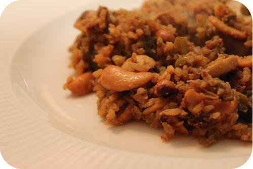 Rijst met Kipfilet, Sperziebonen en Cashewnoten